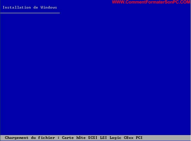 Installer Windows XP Chargement fichier