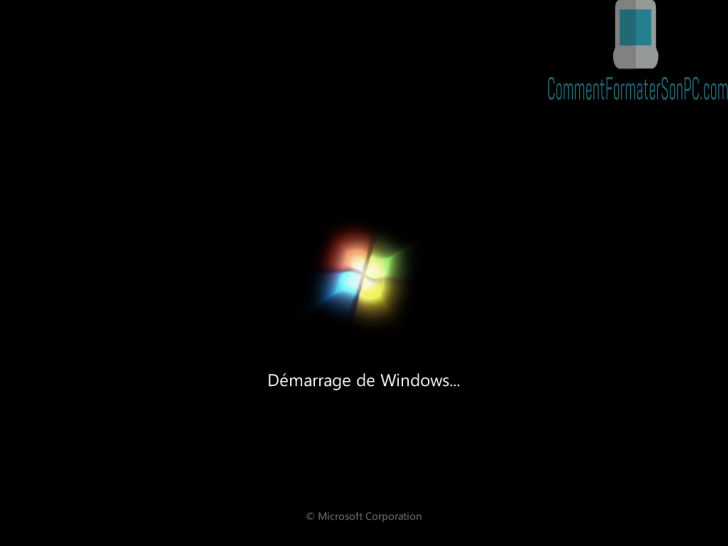 Installer Windows 7 - Windows commence à charger