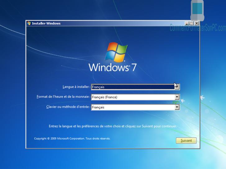 Comment formater son ordinateur et installer windows 7.